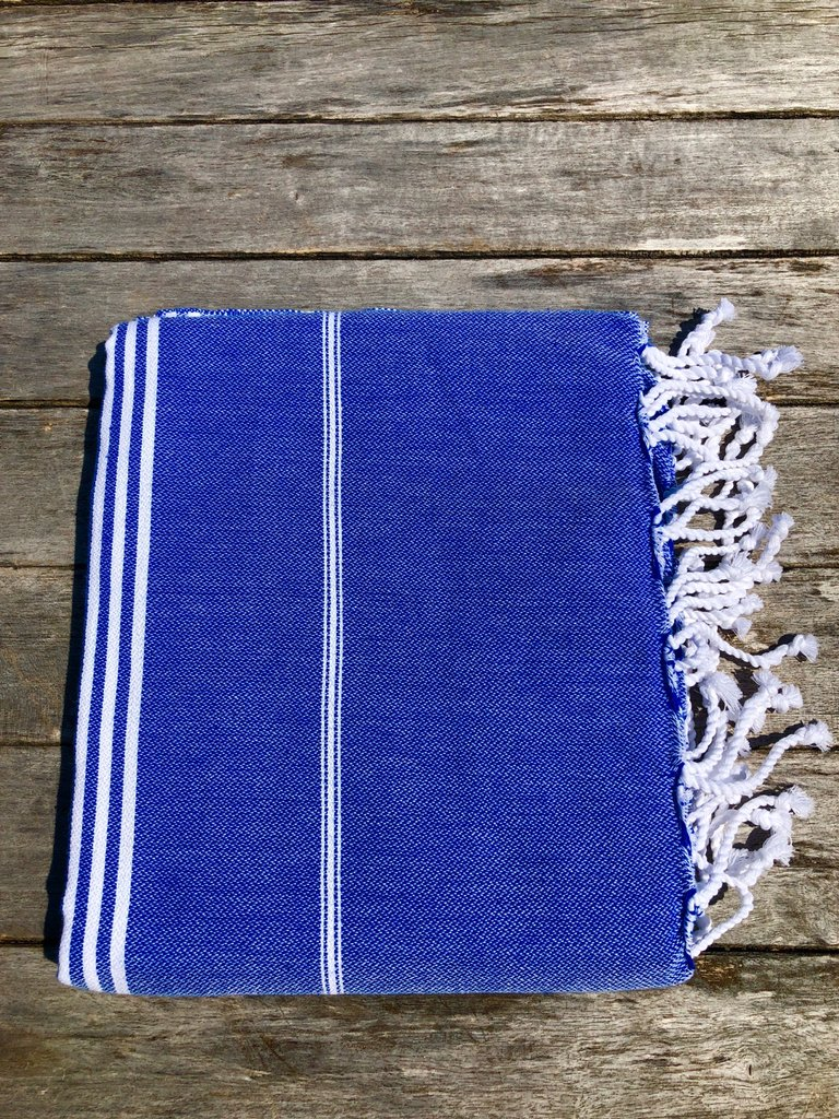 Large Turkish Towel - Blue