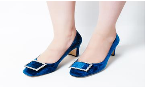 Elite Blue Low Heel Pumps