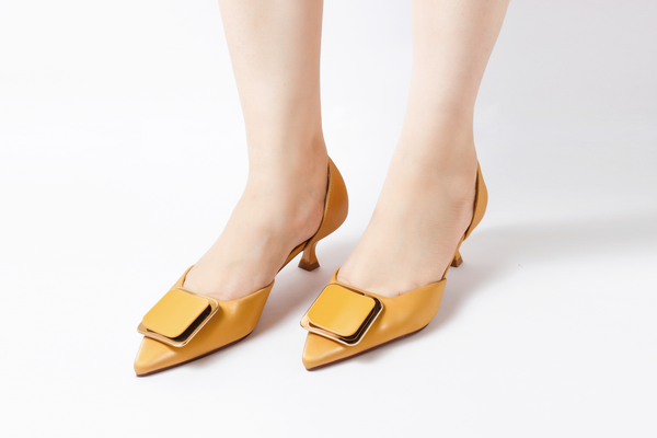 Trend Yellow | Pumps | Low heels | Dech barrouci - DECH BARROUCI