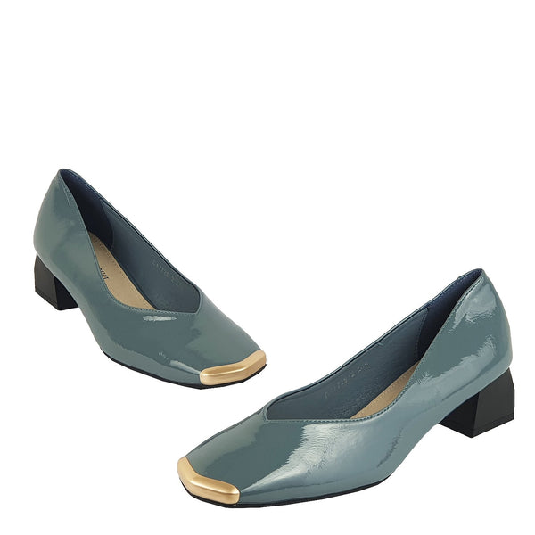 Edge Grey  | Pumps | Low heels | Dech barrouci - DECH BARROUCI