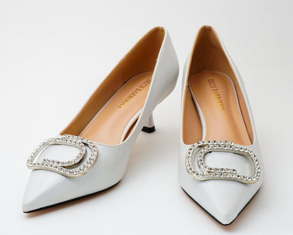 Glitz Silver | Pumps | Low heels | Dech barrouci