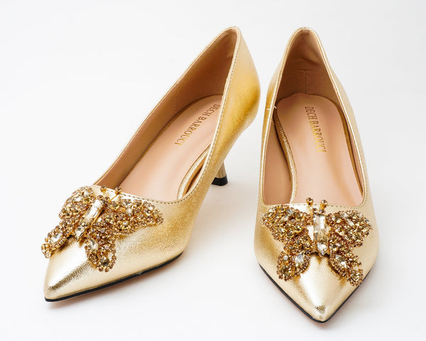 Butterfly Gold| Pumps | Low heels | Dech barrouci