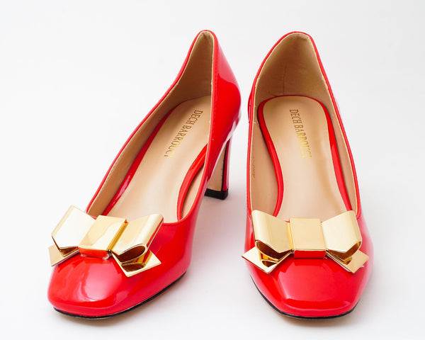 Wicked Red | Pumps | Low heels | Dech barrouci - DECH BARROUCI