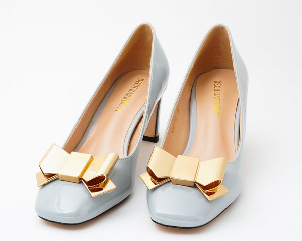 Wicked Grey | Pumps | Low heels | Dech barrouci - DECH BARROUCI