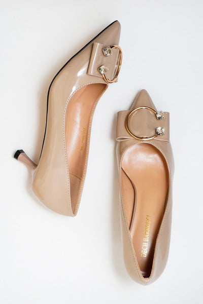 Lush Khaki | Pumps | Low heels | Dech barrouci