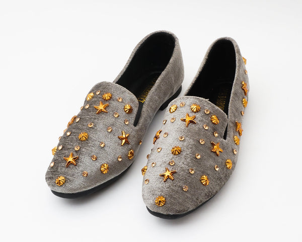 Glam Grey | Flats | Loafer | Slip-ons | Dech barrouci