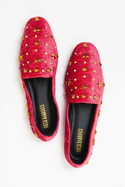 Glam Red | Flats | Loafer | Slip-ons | Dech barrouci