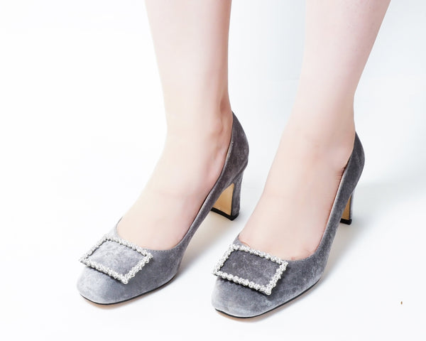 Elite Grey | Pumps | Low heels | Dech barrouci
