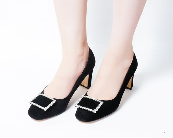 Elite Black | Pumps | Low heels | Dech barrouci