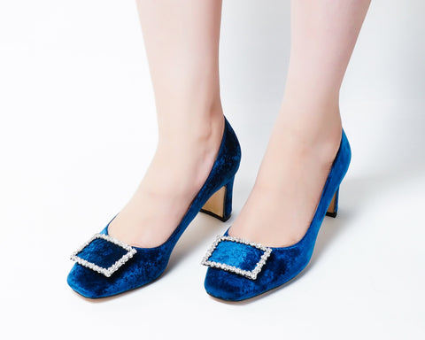Elite Blue | Pumps | Low heels | Dech barrouci - DECH BARROUCI