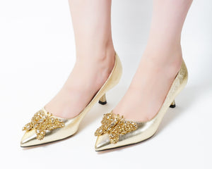 Butterfly Gold| Pumps | Low heels | Dech barrouci - DECH BARROUCI