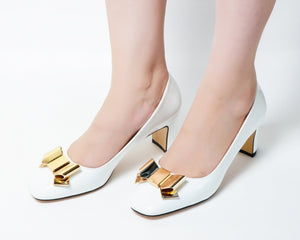 Wicked White | Pumps | Low heels | Dech barrouci - DECH BARROUCI