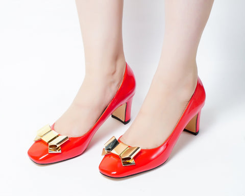 Wicked Red | Pumps | Low heels | Dech barrouci