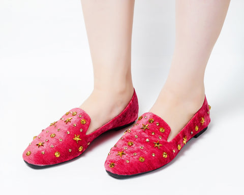 Glam Red | Flats | Loafer | Slip-ons | Dech barrouci - DECH BARROUCI