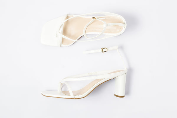Slick White | Sandals | High Heels | Dech Barrouci - DECH BARROUCI