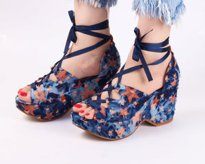 Uber Orange | Wedge Heels| Medium Heels | Dech Barrouci
