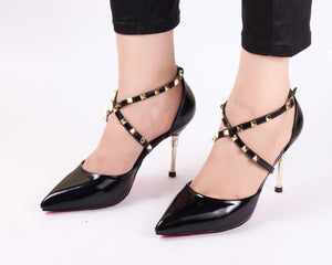 Cross Black | Pumps | Bellies | High Heels | Dech Barrouci - DECH BARROUCI