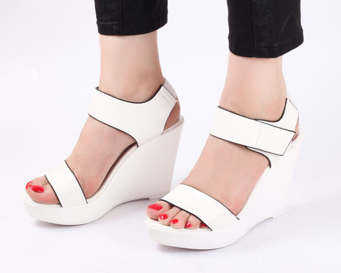 Stun White | Wedge Heels| High Heels | Dech Barrouci