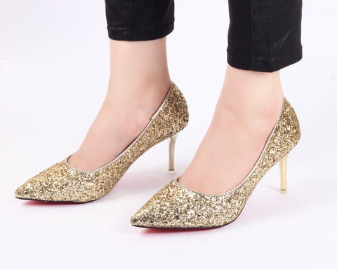 Glamour Gold | Pumps | Bellies | High Heels | Dech Barrouci