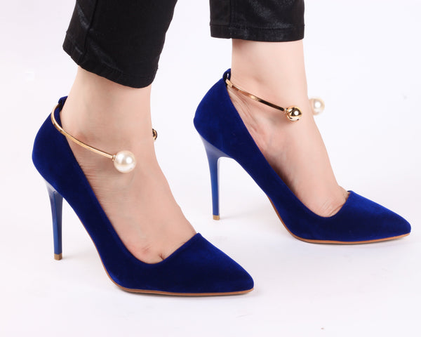 Blue Anklet | Pumps | Bellies | High Heels | Dech Barrouci