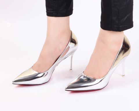Desire Silver | Pumps | Bellies | High Heels | Dech Barrouci - DECH BARROUCI