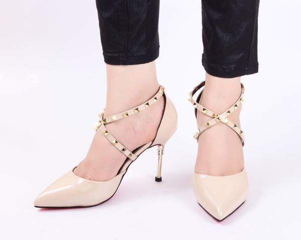 Cross Nude | Pumps | Bellies | High Heels | Dech Barrouci - DECH BARROUCI