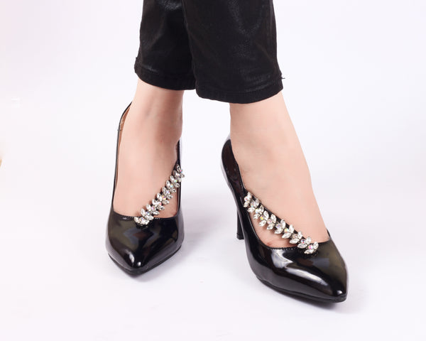 Studded Black | Pumps | Bellies | High Heels | Dech Barrouci