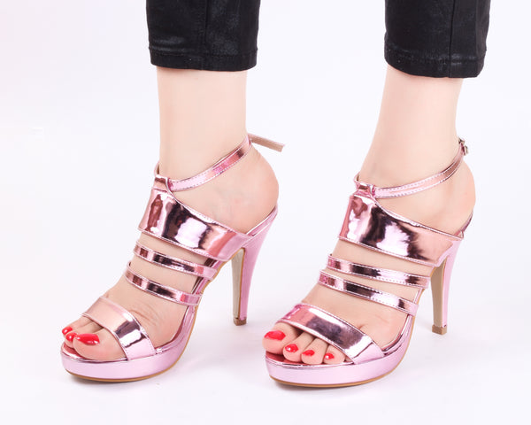 Metallic Pink | Sandals | High Heels | Dech Barrouci