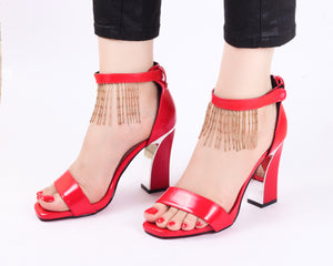 Tassel Red | Sandals | High Heels | Dech Barrouci
