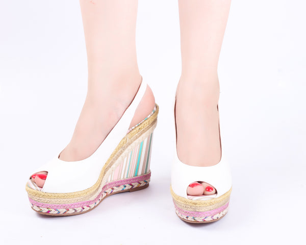 Signature White | Wedge Heels| High Heels | Dech Barrouci