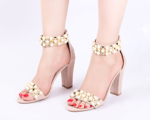 Angelic Beige | Sandals | High Heels | Dech Barrouci