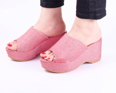 Flash Pink | Wedge Heels| Medium Heels | Dech Barrouci - DECH BARROUCI