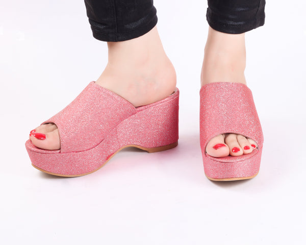 Flash Pink | Wedge Heels| Medium Heels | Dech Barrouci