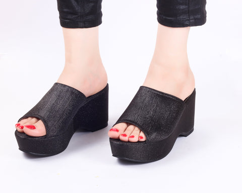 Flash Black | Wedge Heels| Medium Heels | Dech Barrouci - DECH BARROUCI
