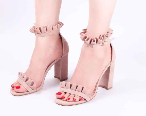 Frill Nude | Sandals | High Heels | Dech Barrouci