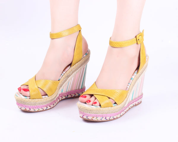 Classy Yellow | Wedge Heels| High Heels | Dech Barrouci