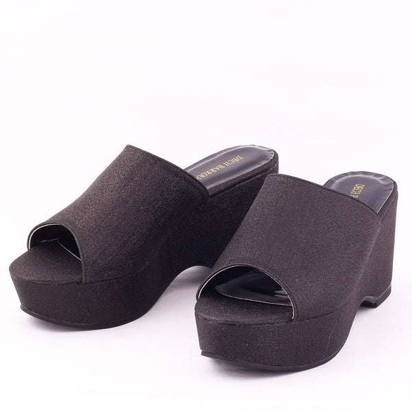 Flash Black | Wedge Heels| Medium Heels | Dech Barrouci