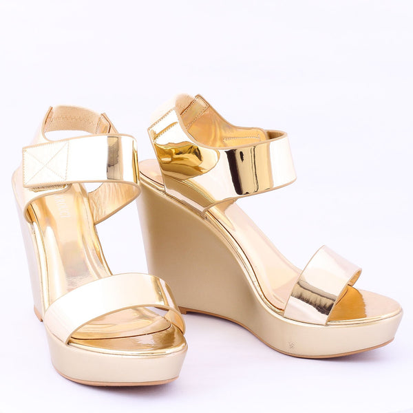 Stun Gold | Wedge Heels| High Heels | Dech Barrouci - DECH BARROUCI