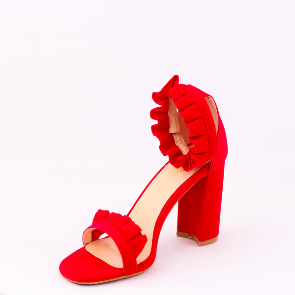 Frill Red | Sandals | High Heels | Dech Barrouci