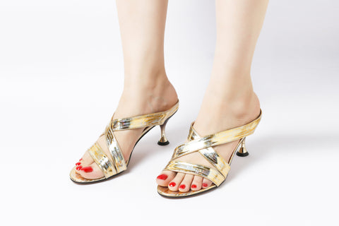 Lavish Gold | Sandals | High Heels | Dech Barrouci - DECH BARROUCI