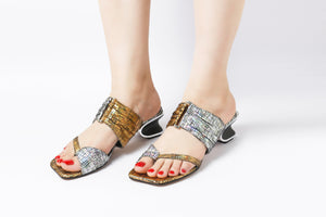 Posh Gold | Sandals | High Heels | Dech Barrouci - DECH BARROUCI