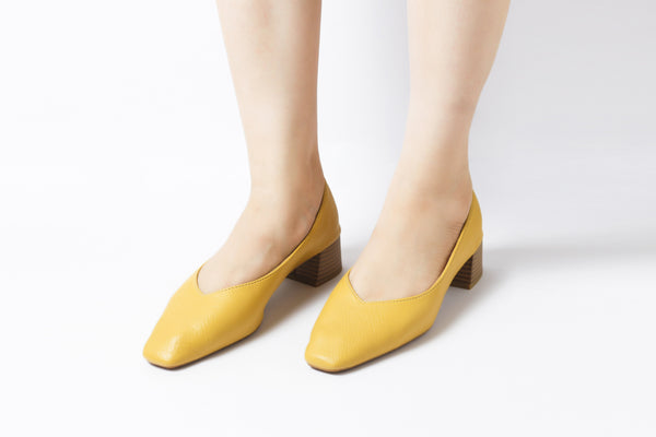 Summer Splash Yellow| Pumps | Low heels | Dech barrouci
