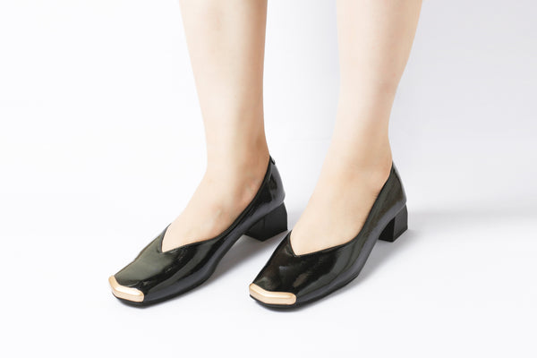 Edge Black | Pumps | Low heels | Dech barrouci - DECH BARROUCI