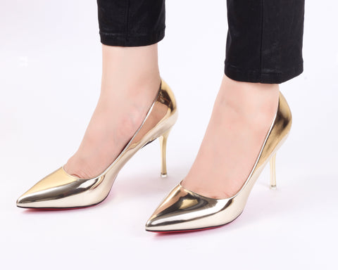Desire Gold | Pumps | Bellies | High Heels | Dech Barrouci - DECH BARROUCI