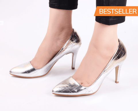Glory Silver | Pumps | Bellies | High Heels | Dech Barrouci