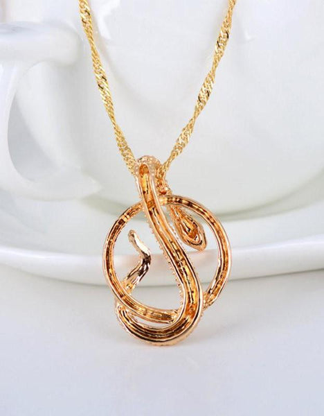 Crystal Snake Pendant Necklace
