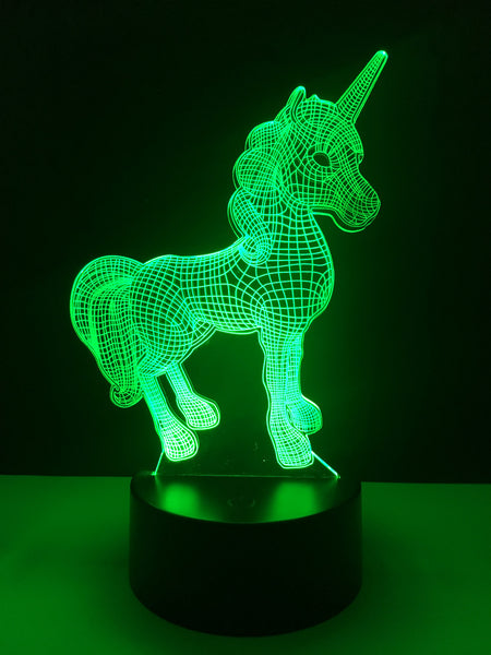 3D Unicorn LED Night Light