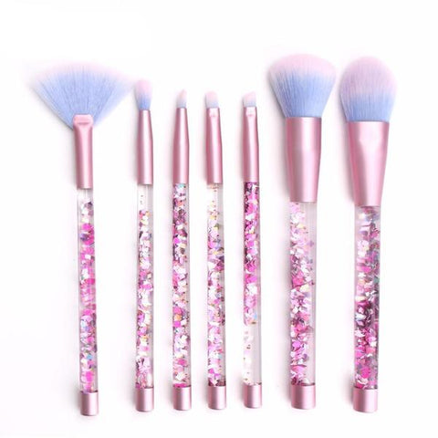 Liquid Glitter Makeup Brush - 7 Piece Set