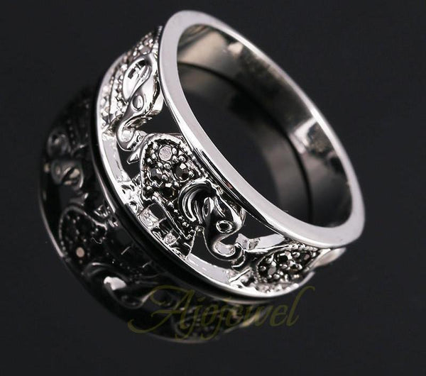 Vintage Silver Elephant Ring