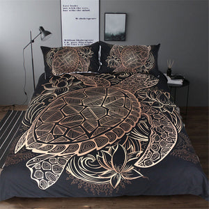 Limited Edition Golden Tortoise Bedding Set - FREE Shipping!